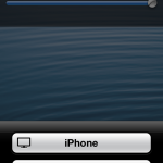 iPhone lock screen with Bluetooth choices